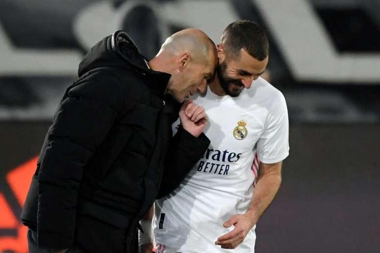Zidane insistirá con su tridente favorito en la Supercopa. AFP/Archivo