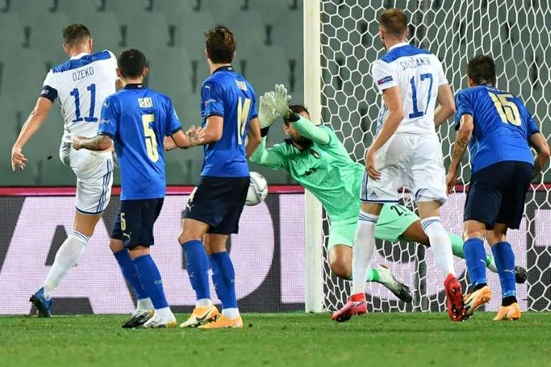 Fin de série pour l'Italie, accrochée par la Bosnie. afp