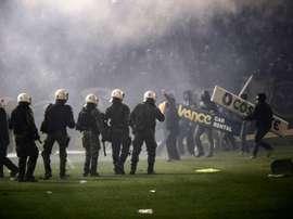 En Grèce, les arbitres de foot en grève contre les violences. afp