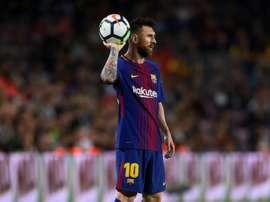 Messi terá estado por trás da saída de Bartra. AFP
