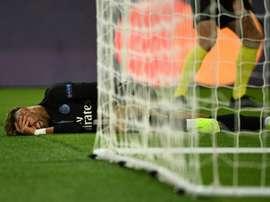 Neymar, au coeur d'un curieux tweet. AFP