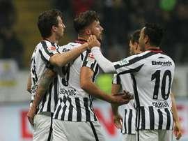 El Eintracht ha logrado remontar un 0-2 al Werder. AFP/Archivo