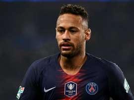 Neymar a repris l'entraînement collectif. AFP
