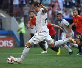 Dzyuba a égalisé face à l'Espagne. AFP