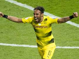 Aubameyang has become the most successful foreign goalscorer for Borussia Dortmund. AFP