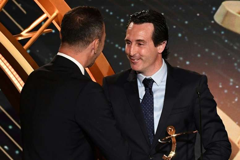 Emery was named 'Manager of the Year.' AFP