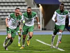 Les compos probables du match de Ligue 1 entre Saint-Étienne et Nîmes. AFP