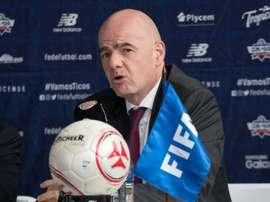 Infantino ne veut plus de corruption dans le football. AFP