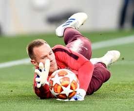 Ter Stegen has 2 assists. AFP