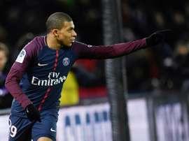 En el último PSG-Dijon, el cuadro de París se impuso por 8-0. AFP