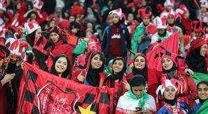 Des supportrices du FC Persépolis assistent à la finale de LDC asiatique. AFP