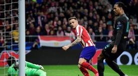 El Atlético quiere que Saúl vuelva a jugar ante el Lokomotiv. AFP