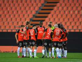 Encore un cas de Covid-19 à Lorient, le match à Nîmes menacé. afp