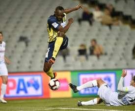Bolt podría jugar con Jamaica. AFP