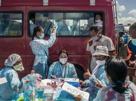 Le grand sauve qui peut des habitants de la capitale malgache. AFP