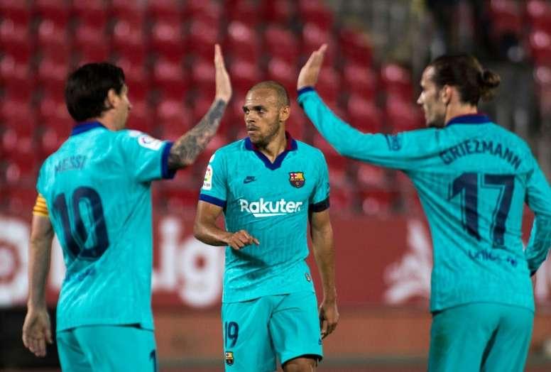 Braithwaite se estrenó como goleador. AFP
