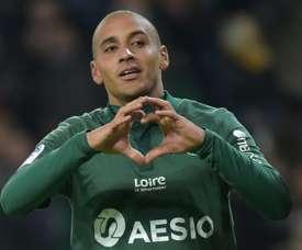 Khazri anotó uno de los goles del Saint-Étienne. AFP