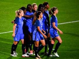 Les joueuses de l'équipe de France face aux Espagnoles en amical. AFP