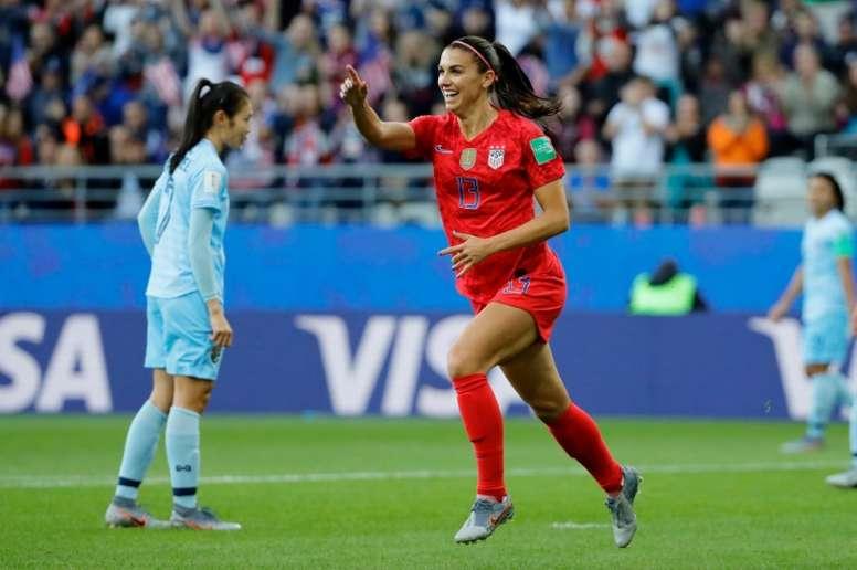 Alex Morgan scored 5 goals as the USA battered Thailand. AFP