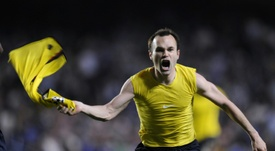 Se cumple una década del gol que lo cambió todo en el Barça. AFP