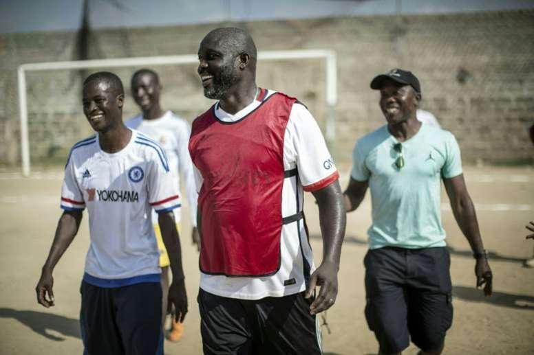 George Weah, el mejor africano de la historia. AFP
