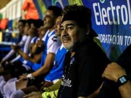 Maradona conduit encore une fois son équipe en finale du championnat de D2 mexicaine. AFP