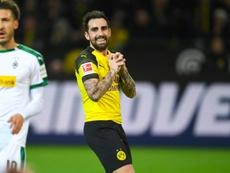 Lattaquant espagnol de Dortmund, Paco Alcacer. AFP
