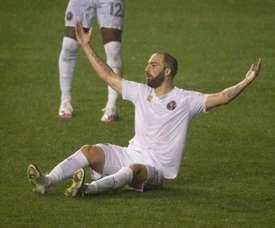 MLS: Higuain manque un penalty et perd pour sa première avec Miami. AFP