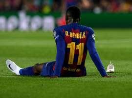 L'esterno francese del Barça Dembelé. Ko 10 settimane.