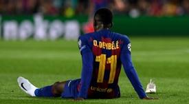 Les fans du FC Barcelone ne veulent plus de Dembélé. AFP