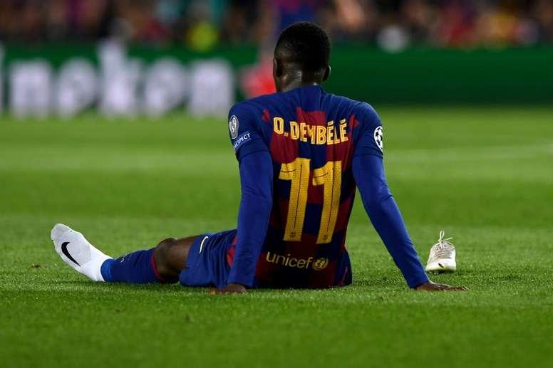 Dembélé encore blessé avec Barcelone .AFP
