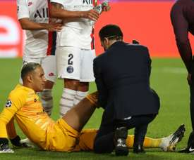 Navas might not make the Leipzig game. AFP
