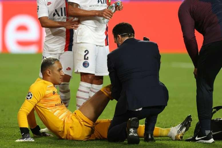 Keylor Navas sorti sur blessure. AFP