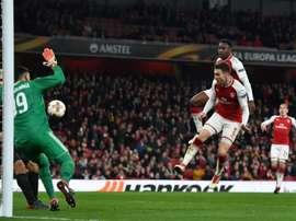 Welbeck marcó un doblete ante el Milan. AFP