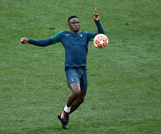 Le milieu kényan Victor Wanyama lors d'un entraînement avec Tottenham le 31/05/19. AFP