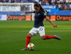 La défenseure de léquipe de France Amel Majri contre le Nigeria, le 17/06/19. AFP