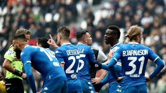 Brescia ne veut pas reprendre la saison. AFP
