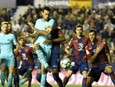 Le Barça perd sa cap d'invincibilité à une journée de la fin. AFP