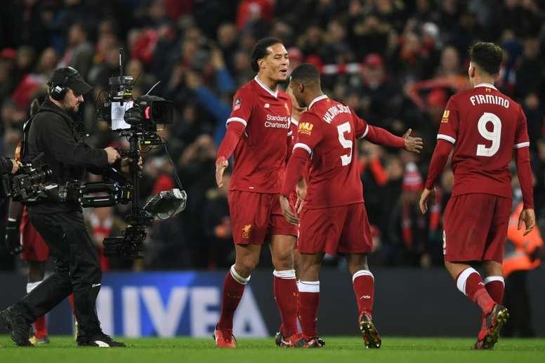 Liverpool reste sur une victoire face à Everton. AFP