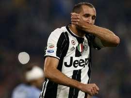 Chiellini fez antevisão à partida com o Real Madrid. AFP