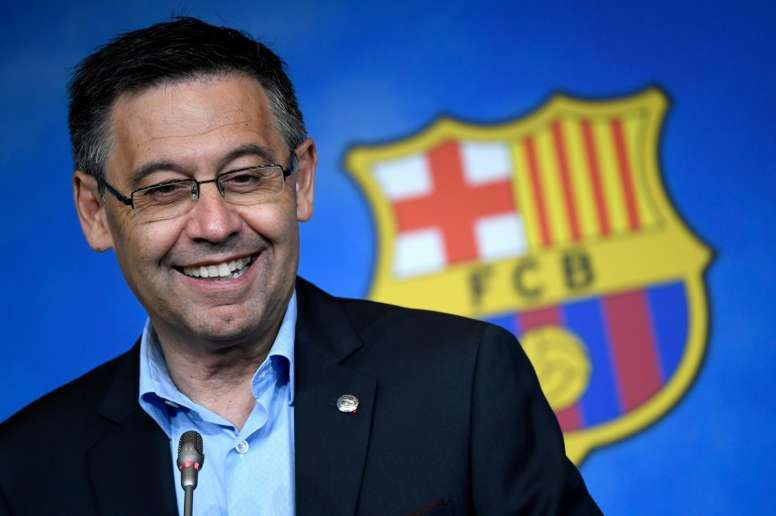 Bartomeu, satisfecho con el inicio del Barça. AFP