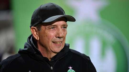 L'entraîneur de Saint-Etienne Jean-Louis Gasset. AFP