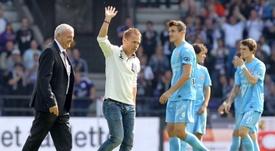 Au chômage technique, l'entraîneur adjoint d'Anderlecht licencié. AFP