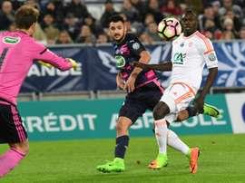 L'attaquant de Bordeaux Gaëtan Laborde, auteur d'un doublé face à Lorient en Coupe de France. AFP