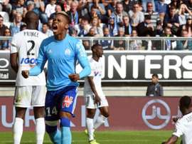 N'Jie scored twice as Marseille overcame Amiens in a 2-0 victory. AFP