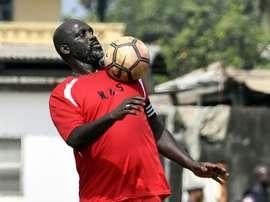 Le président élu du Liberia et ancienne star du foot George Weah. AFP