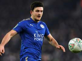 Harry Maguire  Leicester. AFP