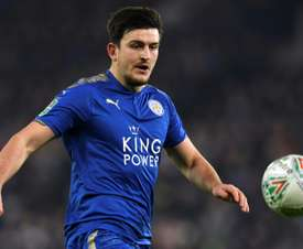 Harry Maguire could be rested this weekend against Huddersfield. AFP