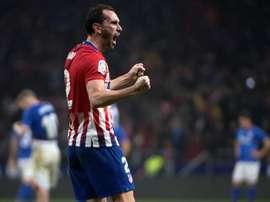 Le défenseur uruguayen de l'Atlético Madrid, Diego Godin. AFP