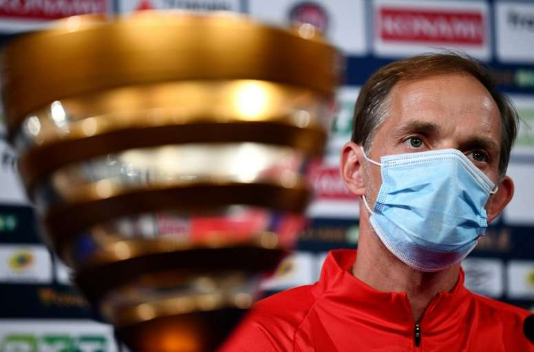 Tuchel was annoyed with a journalist during the press conference. AFP
